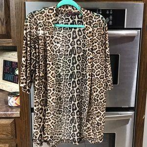 Crazy Train Leopard Cardigan One Size